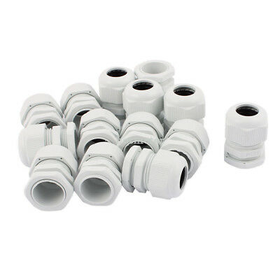 14 Pcs PG21 13mm-18mm Range Waterproof Cable Glands Fixing Connect Adapter White