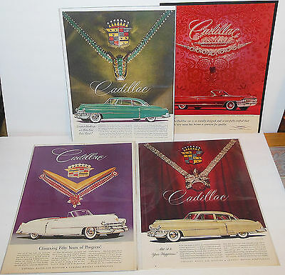 Cadillac Magazine Ads 4 Different w/ Jewels By Van Cleef & Arpels Boards & Bags