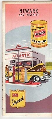 1959 Atlantic Gasoline,Newark,New Jersey and Vicinity,Road Map