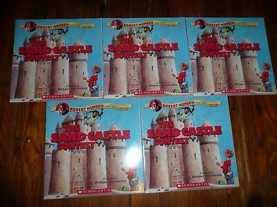 NEW Lot 5 copies SAND CASTLE CONTEST Robert Munsch GUIDED READING Lit Circle