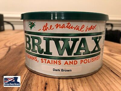 Briwax Wax Polish Dark Brown 16 oz Can