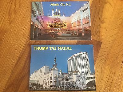 2 Trump Post Cards Taj Mahal Casino Resort Atlantic City Boardwalk PostCards NJ