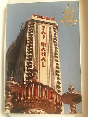 Trump Post Card Taj Mahal Casino Resort Atlantic City Boardwalk PostCard NJ