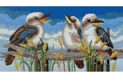 Kookaburra Line Up Country Threads Long Stitch Kit **Don't pay retail of $84.95*
