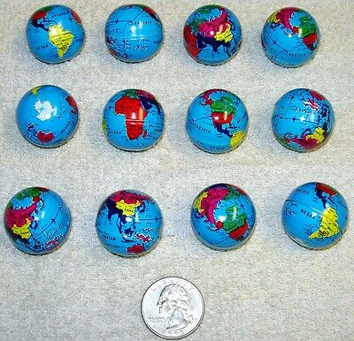 12 Colorful Mini Tin World Globes