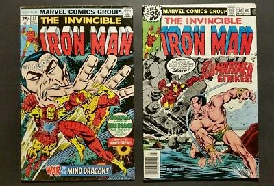 Iron Man 81  120 Submariner Appearance 2 Comic Lot