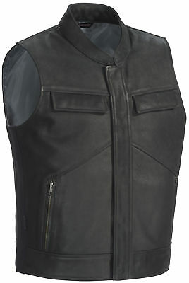 Tourmaster Renegade Leather Vest [Black, XLG]