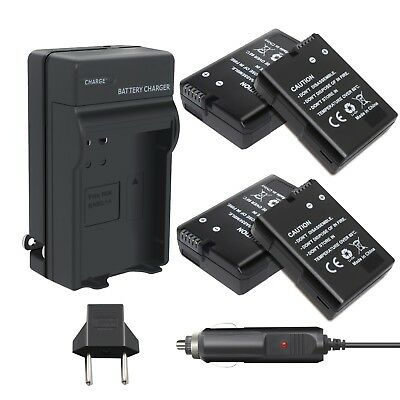 For Nikon D3100 D3200 D3300 D5100 D5200 D5300 D5500 DF 4 Pack Battery & Charger