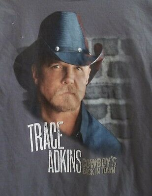 Trace Atkins Cowboy's Back In Town 2011 Tour T-Shirt Adult M Medium