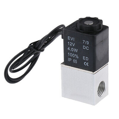 """Normally Closed 1/4"""" Inch Pneumatic Electric Gas Air Solenoid Valve 12V DC"""