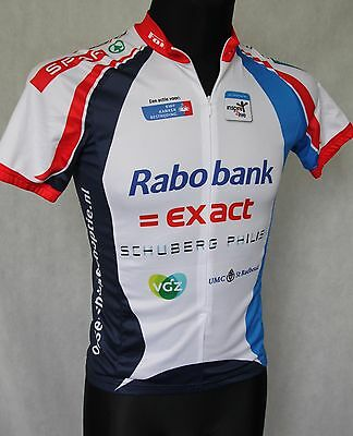 RABOBANK L'ALPE D'HUEZ 2012 TEAM SCHALKHAAR Cycling Jersey Top Full Zip sz S