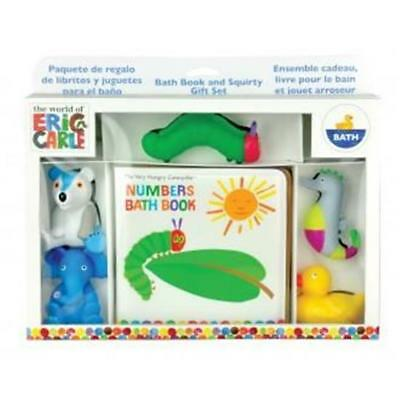 NEW The World of Eric Carle - Very Hungry Caterpillar Bath Book & Squirty Toys