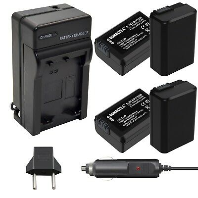 4 Pack NP-FW50 Battery and Charger for Sony Alpha a5000 a5100 a6000 a6300 a6500