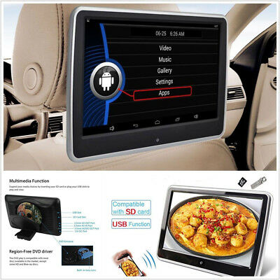 "10.1"" TFT LCD HD Touch Screen Car Headrest Monitor DVD Player HDMI USB SD IR FM"