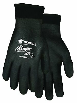 MCR Safety N9690FC Memphis Ninja Ice 15 Gauge Safety Gloves, Black (XXL)