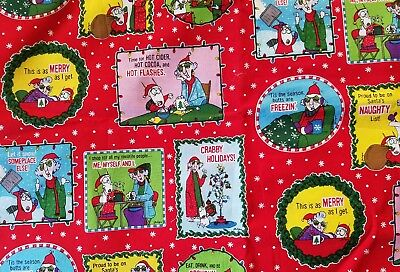 Maxine Christmas fabric  42X33 inches Crabby Maxine crafts fabric scrapbooking