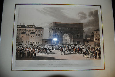 Entry of the Allied Sovereigns into Paris 1814 – London 1815 - Aquatinta