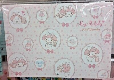 F/s Sanrio Wall Hanging  Calendar Cute  My Melody 2018 Pink Japan Limited