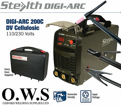 SWP Stealth DIGI-ARC 200C 200amp Dual Voltage 110v 240v Inverter MMA Scratch TIG