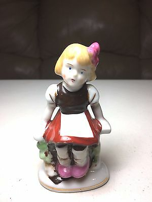 Made in Occupied Japan - Vintage Ceramic Girl On Bench Figurine