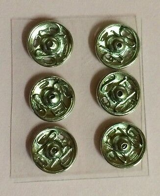 Silver Sew-on Press Studs (snaps / fasteners) 8mm x 6