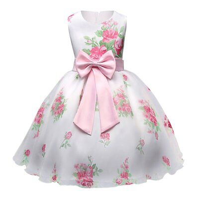 Flower Girls Princess Dress Kids Baby Party Wedding Pageant Formal Tutu Dresses