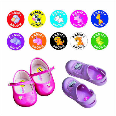 Child's Shoe Dots Name Labels Stickers Book Tags School Childcare toys