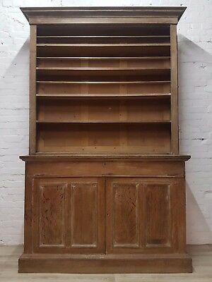 Victorian Stripped Oak Shop Cabinet (DELIVERY AVAILABLE)