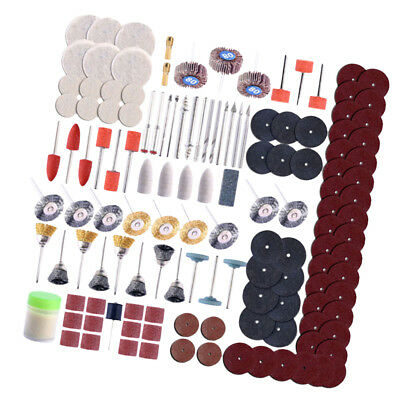 350Pcs Brass Steel Wire Brush Polishing Wheels Full Kit for Rotary Tools