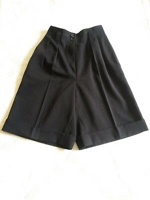 SHORT Bermuda noir SYNONYME de Georges RECH T.36 XS VINTAGE 80 woman black short