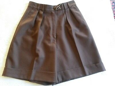 SHORT Bermuda marron en laine Daniel D T.40 M VINTAGE 80 woman brown wool shorts