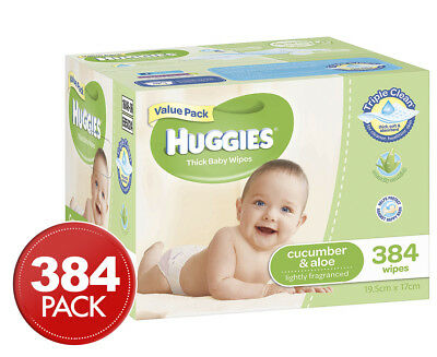 Huggies Baby Wipes Cucumber & Aloe 384pk