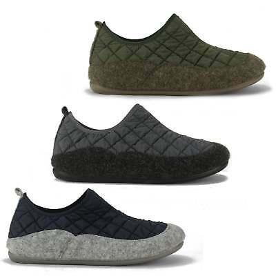 Papa Jams SAVENA Mens Quilted Winter Elasticated Fit Full Slippers Made In Spain