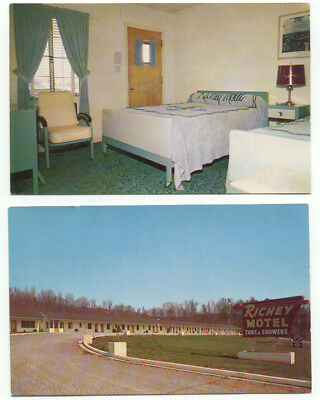 Chattanooga TN Richey Motel Lot of 2 Vintage Postcards - Tennessee