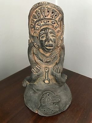 Antique African Clay Anthropomorphic Ceramic Fertility Figure Vintage Old Africa