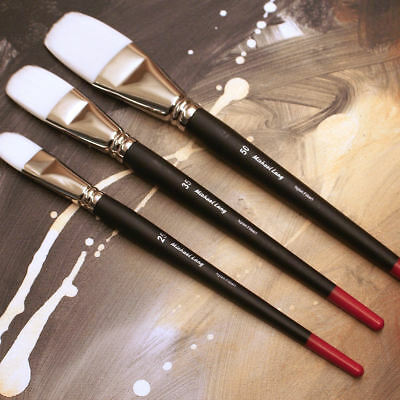 Michael Lang Artist Brushes Set, Exclusive Design 3 Pack Mix Lang Painting Brush
