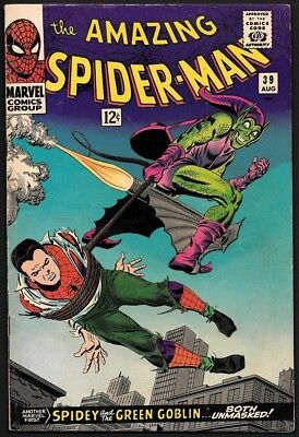 1966 Marvel Comics Amazing Spider-Man #39 5.0 Vg/fn 1St Romita Art Green Goblin