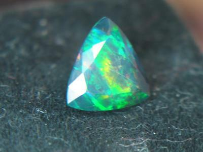 1.87Ct Hydrophane Wello Ethiopian 5 Color Play Faceted Solid Natural Opal