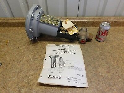"NEW Robertshaw 3/4"" Brass Diaphragm Control Valve W/ Actuator 3 Way NEW"