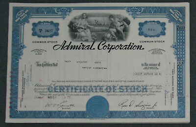 Lot 31 X Admiral Corporation more than 100 shares 1970er