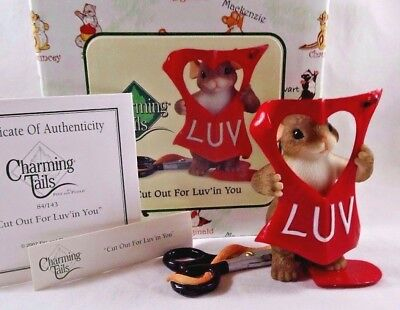 Charming Tails Figurine Cut Out For Luv'in You NIB