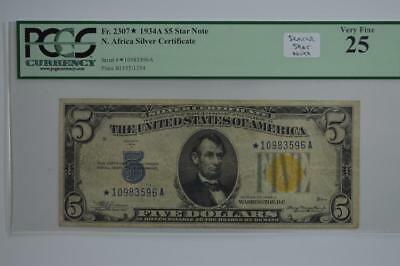 $5.00 North Africa Silver Certificate Star Note. Lot 143
