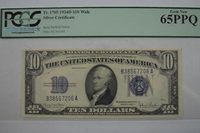 U.S. Currency. $10.00 Series of 1934-D Silver Certificate Lot 148