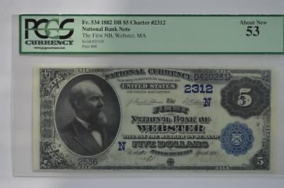 $5.00 National Bank Note. Lot 126