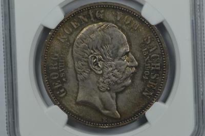 German States, Saxony. 1904-E 5 Mark, Death of Georg Lot 34