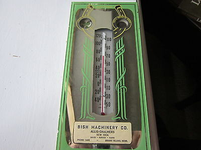 "Vintage Thermometer With 4 Leaf Clover And Wheat Penny 51/2""x12"""