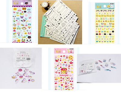 Planche d'Autocollants Stickers DIY Kawaii Papeterie Scrapbooking