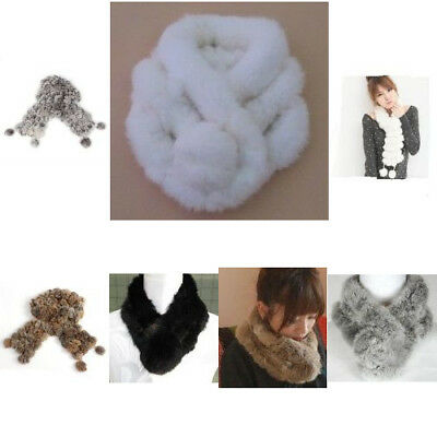 Winter Soft Rabbit Fur Ultra Long Neck Muffler Scarf  Wrap