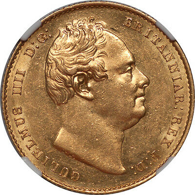 Great Britain 1837 William IV Sovereign THOS H. LAW Collection NGC MS-61 RRR!!