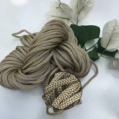 CAPPUCCINO - 30m Colourful Braided Nylon Rope - Boho/Chic/Wall/Pot/Hanging